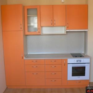 Кухня от МДФ лак в цвят оранжево