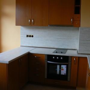 Кухня от ЛПДЧ в цвят череша
