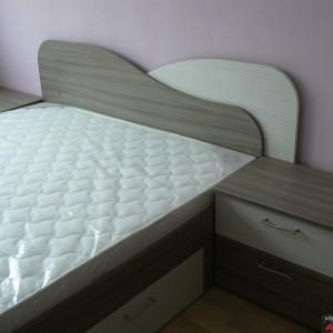 Спалня от ЛПДЧ в цвят бяла хасиенда и тресавище