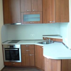 Кухня от ЛПДЧ в цвят орех
